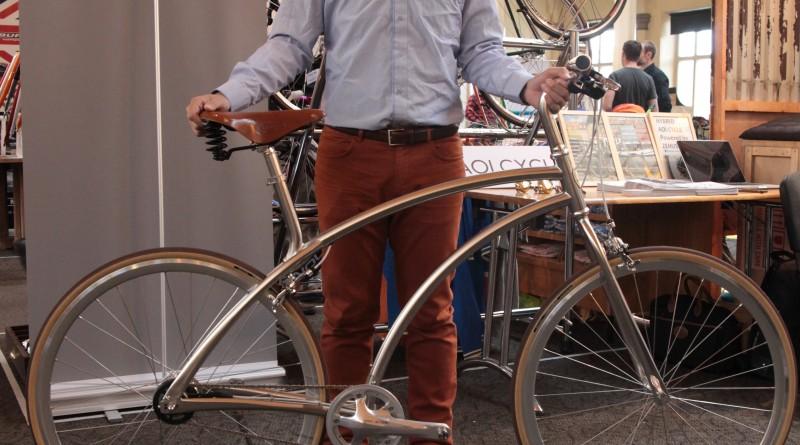Ken Aoi presenting his 100 piece town bike