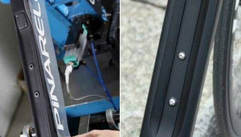 The alleged infringement of Velocite's downtube concave design (right)