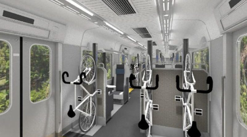 Train designed for multi-modal cycle commuters to go live in Japan