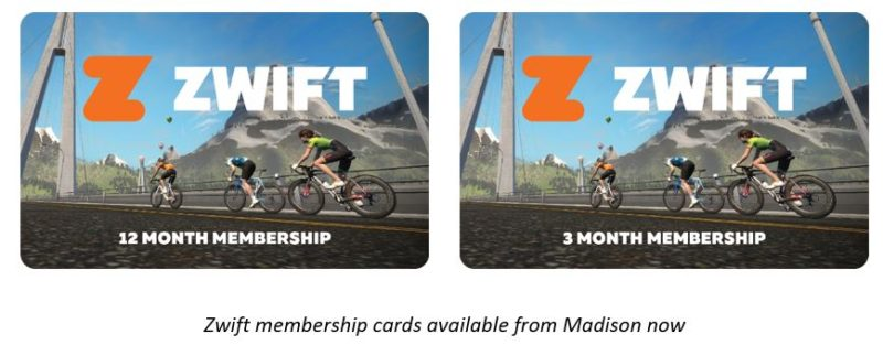 Zwift retail packages to be available via Madison