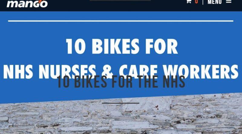 Health workers mango bikes