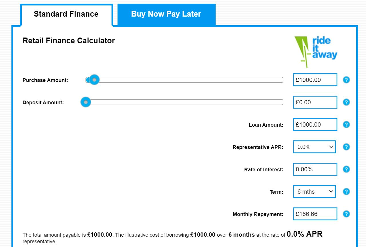retail finance calculator