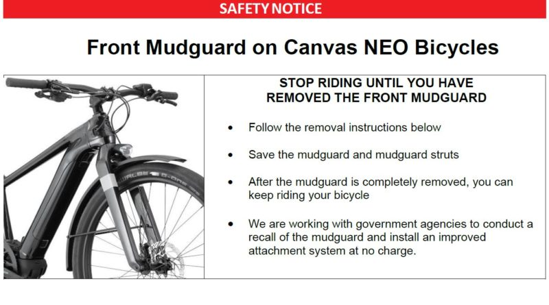 Cannondale recall