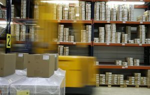 warehouse shipping plastic packaging