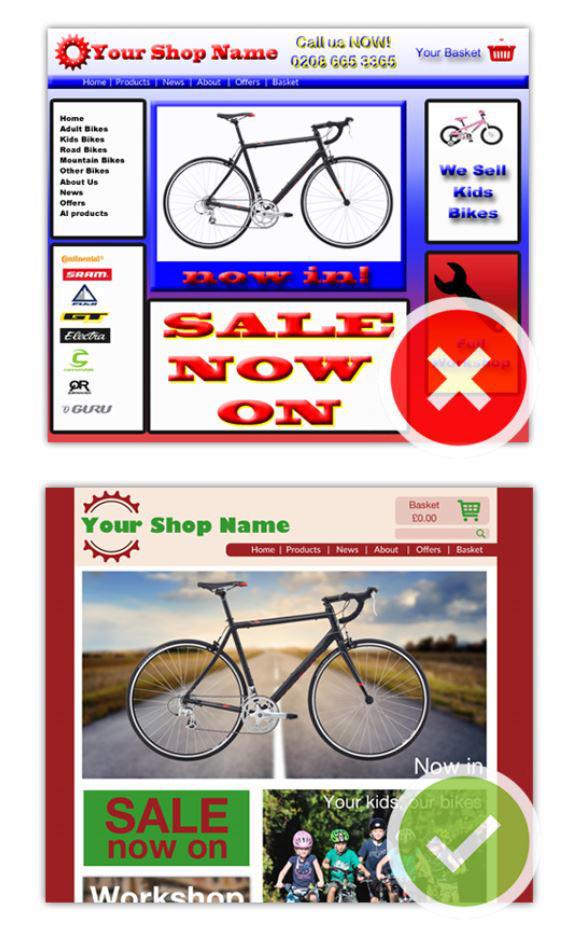 Web design examples